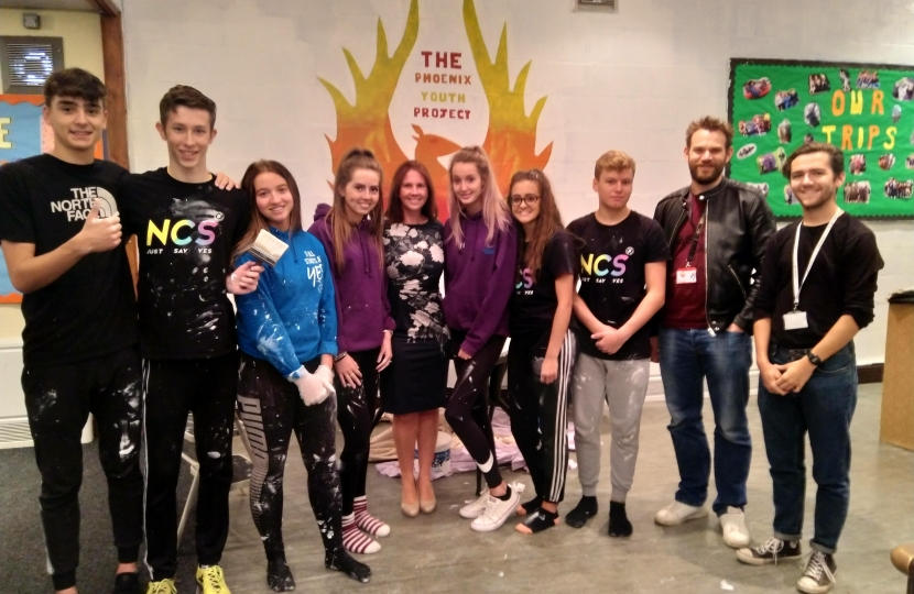 Copeland MP meets local teens on NCS Programme in Frizington