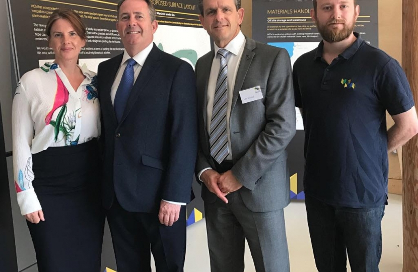 Trudy Harrison MP visits West Cumbria Mining with Trade Minister, Liam Fox
