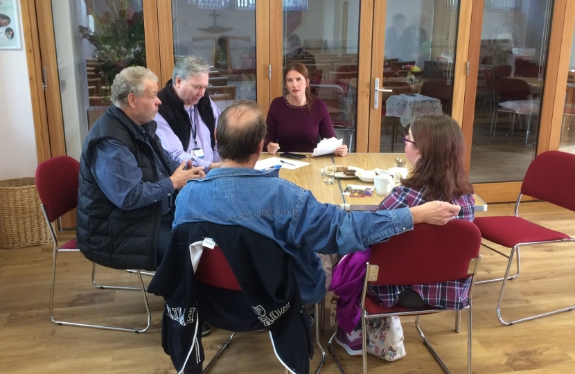 Trudy Harrison MP meets local residents at Braithwaite Saturday Chataway surgery