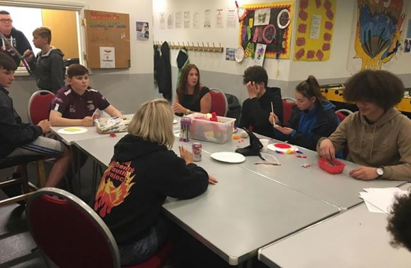 Trudy Harrison MP meets young people at Phoenix Youth Project centre in Cleator Moor