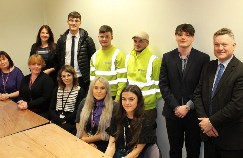 Trudy meets apprentices in celebration of National Apprenticeship Week 2019
