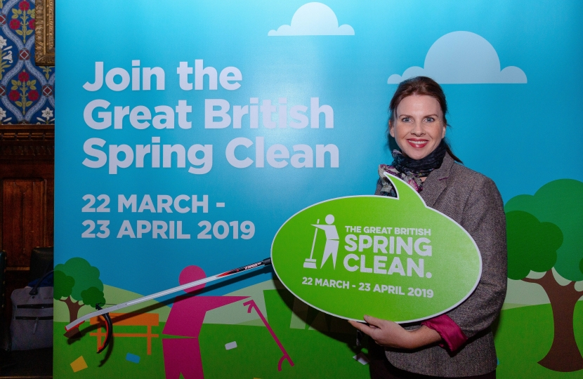Trudy Harrison MP Great_British_Spring_Clean_Launch_2019_with_Keep_Britain_Tidy_at_the_Hou...