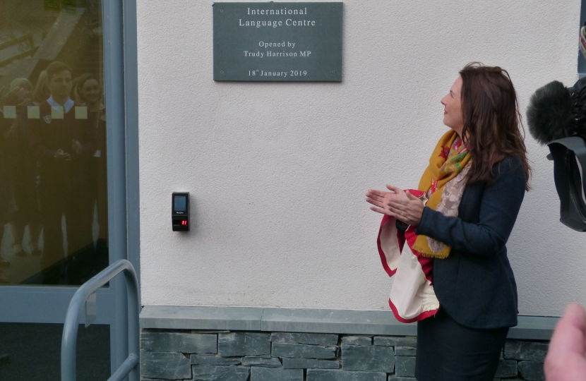 Trudy Harrison MP opens Keswick School Language Centre