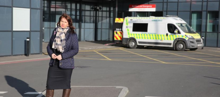 Trudy Harrison at West Cumbria Hospital
